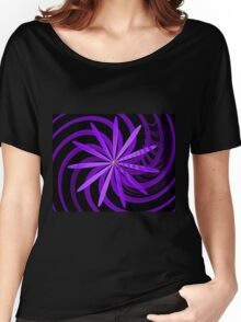 Somewhere are Purple Flowers Blooming Women's Relaxed Fit T-Shirt