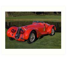 1939 Alfa Romeo 8c 2900 Mille Miglia Art Print