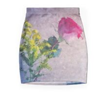 Rose brushstrokes Mini Skirt
