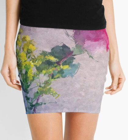 Rose brushstrokes Mini Skirt