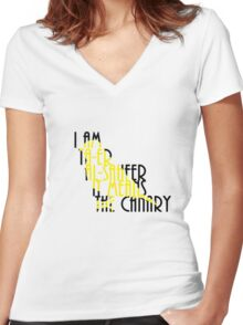 I AM THE CANARY Women's Fitted V-Neck T-Shirt