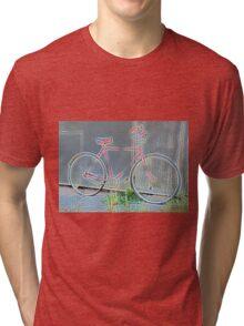 Glowing Vintage Bicycle... Tri-blend T-Shirt