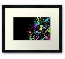 Paint Splater Framed Print