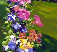 Petunias and Pansies  by Norman Kelley