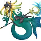 Nami the mermaid - League of legends by bastetsama