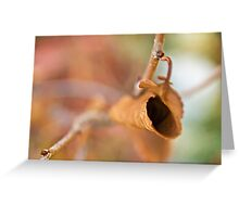 Curly Autumn Leaf Greeting Card