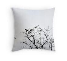 The Parrot Tree Throw Pillow