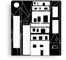 distorted urbanization Canvas Print