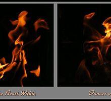 Fire Diptych by Jocelyn Hyers