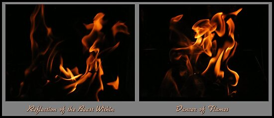 Fire Diptych by Jocelyn Hyers