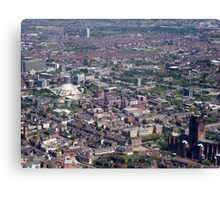 the two cathedrals of Liverpool Canvas Print