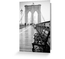 Brooklyn Bridge Bench Greeting Card