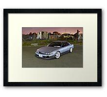 Silver Nissan S13 Silvia Framed Print