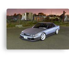 Silver Nissan S13 Silvia Canvas Print