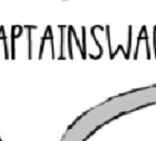 Captain Swan- Heart Design Sticker