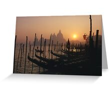 At The End of the Day -Venice Greeting Card