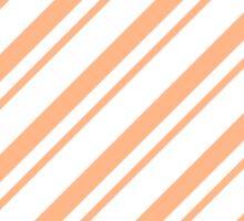 Peach Thin Diagonal Stripes Sticker