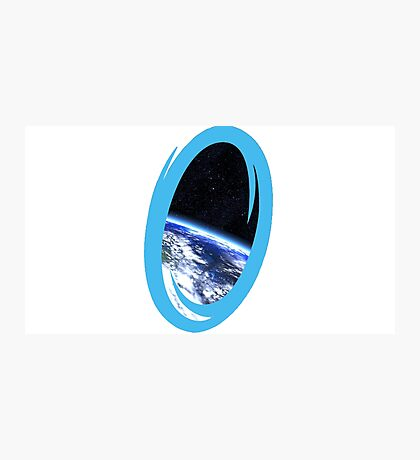 Portal 2: view from the moon Photographic Print