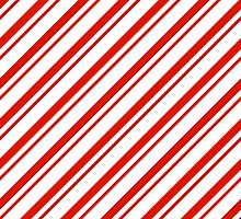 Red Thin Diagonal Stripes by ImageNugget