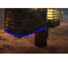 Reflected BBC at Salford Quays Photographic Print