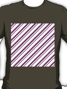 Magenta Thin Diagonal Stripes T-Shirt