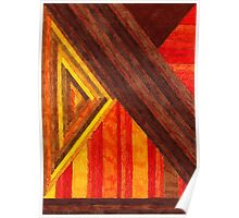 Abstract Art Study - Browns & Oranges & Reds Poster