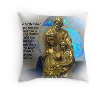 The Birth of Jesus Throw Pillow