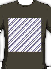 Lavander Thin Diagonal Stripes T-Shirt