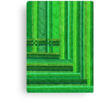 Abstract Art Study - Greens Canvas Print