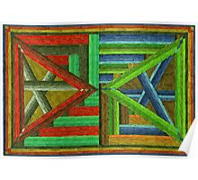Abstract Art Study - Double Triangles Poster