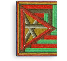 Abstract Art Study - Right Triangle Canvas Print