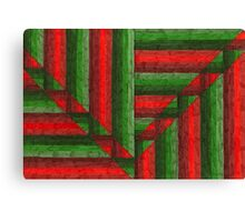 Abstract Art Study - Reds & Greens Canvas Print