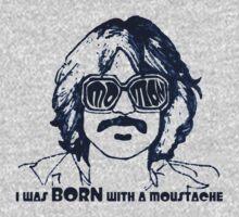 Moustache Man Baby Tee