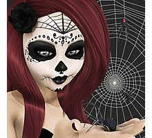 Black Widow Sugar Doll Photographic Print