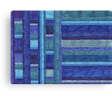 Abstract Art Study - Blue Stripes Canvas Print