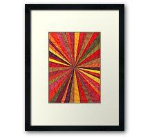 Abstract Art Study - Red Starburst Framed Print