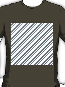 CoolGrey Thin Diagonal Stripes T-Shirt