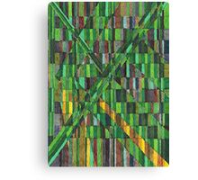 Abstract Art Study - Greens & Yellows & Browns Canvas Print