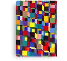 Abstract Art Study - Colorful Blocks Canvas Print