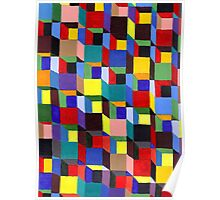 Abstract Art Study - Colorful Blocks Poster