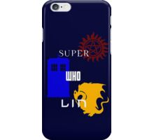 Superwholin- White with logos iPhone Case/Skin