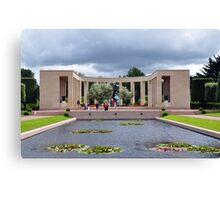 Memorial, American Military Cemetery, Omaha Beach, France Canvas Print