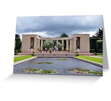 Memorial, American Military Cemetery, Omaha Beach, France Greeting Card