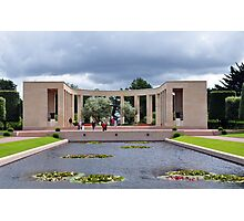 Memorial, American Military Cemetery, Omaha Beach, France Photographic Print