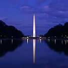 Fall Evening at the Washington Monument by Justin Baer