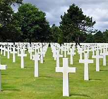 American Military Cemetery, Omaha Beach, France by Pat Herlihy