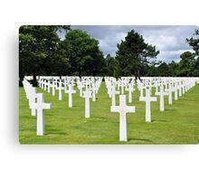 American Military Cemetery, Omaha Beach, France Canvas Print