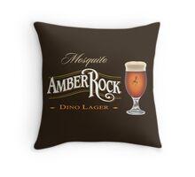 Mosquito AmberRock Dino Lager Throw Pillow