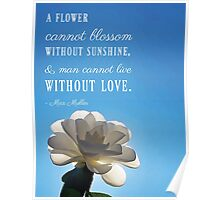 A Flower Cannot Blossom Without Sunshine Quote Poster