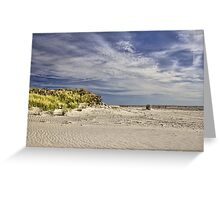 November Beach Greeting Card